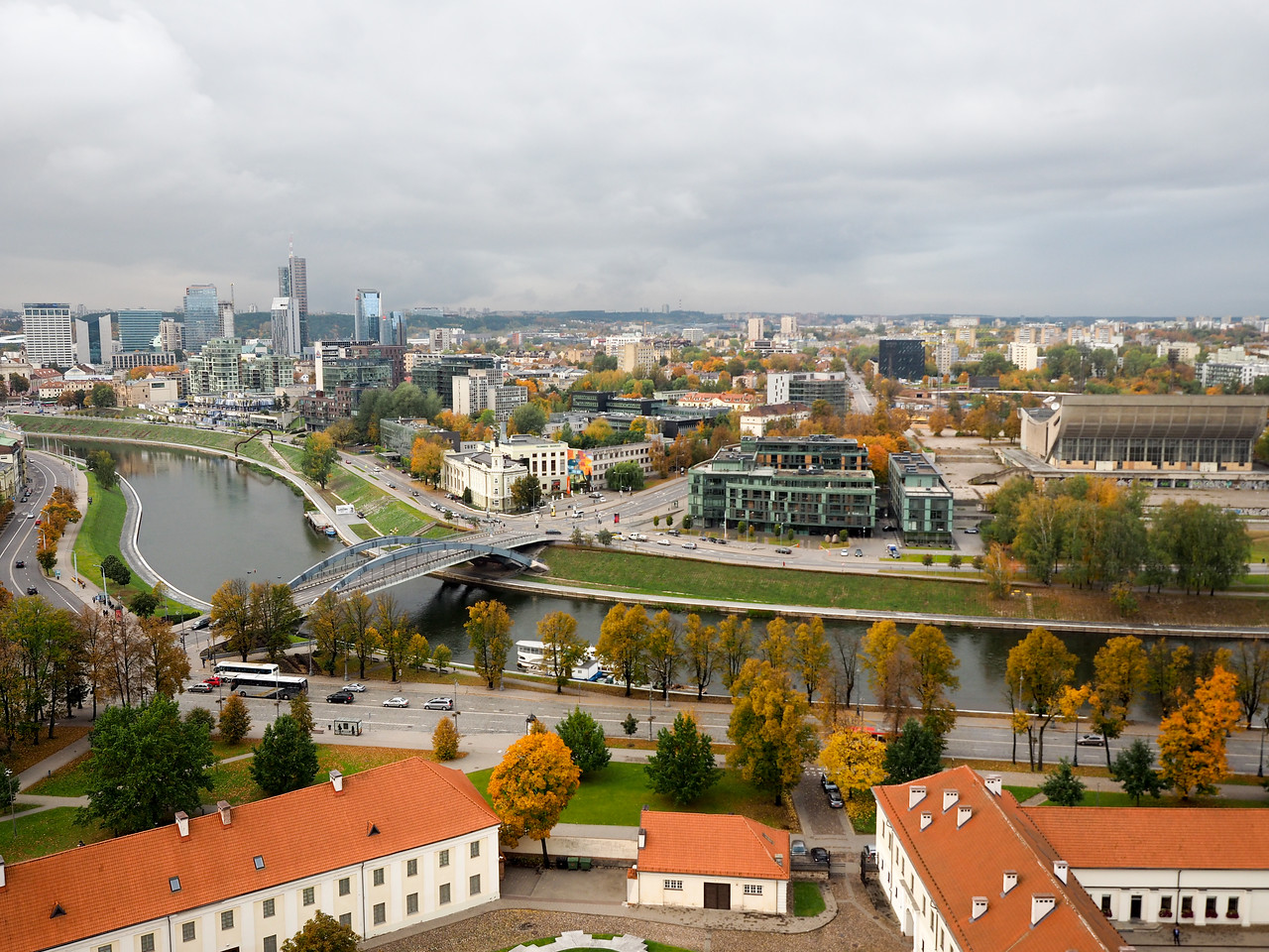 View of Vilnius from the castle complex