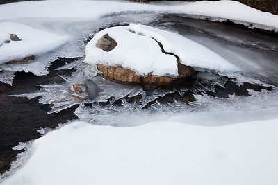 Dramatic ice fomrations in a small creek