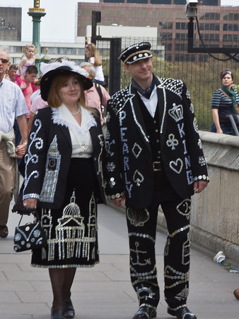 Pearly King and Queen, London, England.