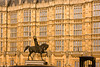 Bronze equestrian statue of King Richard 1 at Parliament