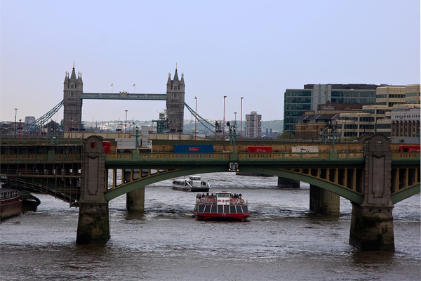 Activity on the Thames River, London, England