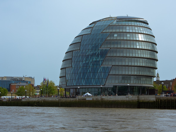 City Hall from The Thames River, London, England