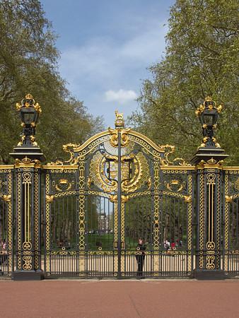 Canada Gates at Buckingham Palace Park, London, England