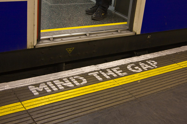 "Common Warning at an Underground or ""Tube"" Station, London, England"