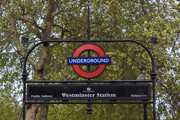 Entrance to the London Underground, London, England