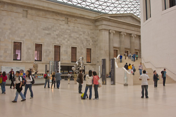 Lobby of the British Museum, London, England