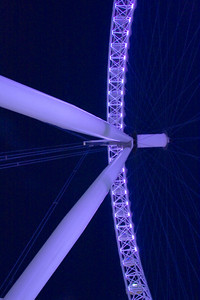 The London Eye, on the Thames River in London England, built to celebrate the new millennium in 2000.
