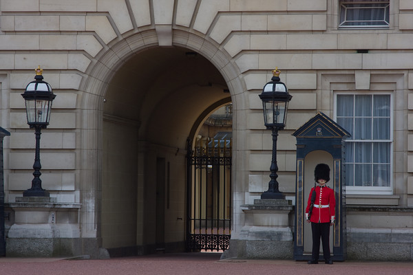 Palace Guard at Buckingham Palace, London, England