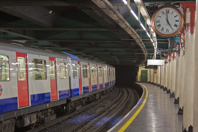 "Underground or ""Tube"" Station, London, England"