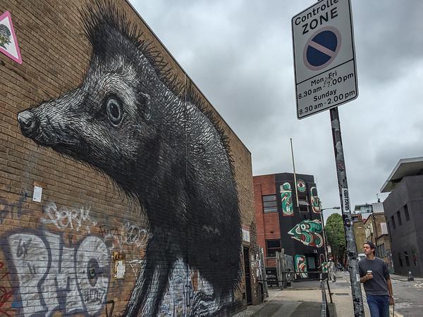 Brick Lane street art, London