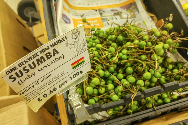 Ghanaian food market in Brixton, London