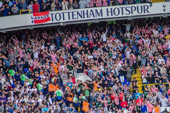 At White Hart Lane for a Tottenham Hotspur football game