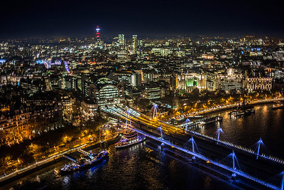 Hungerford Bridge & Charing Cross Station from London Eye