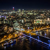 Hungerford Bridge & Charing Cross Station from London Eye