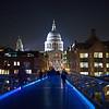 December view of St Paul's from Millennium Bridge