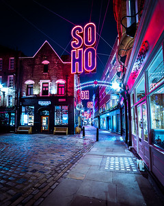 Christmas lights, Soho