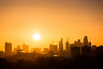 View from Primrose Hill at sunrise