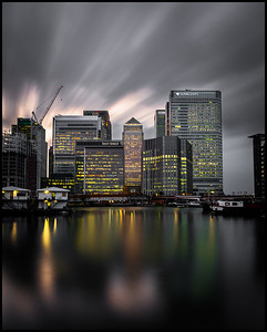 Canary Wharf from Blackwall Basin