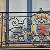 Un lion de balcon au palais grand-ducal