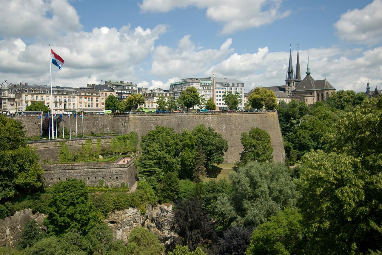 Plaza de la Constitution in Luxembourg city, Luxembourg