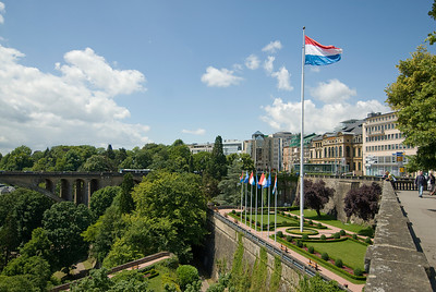 Plaza de la Constitution in Luxembourg city, Luxembourg