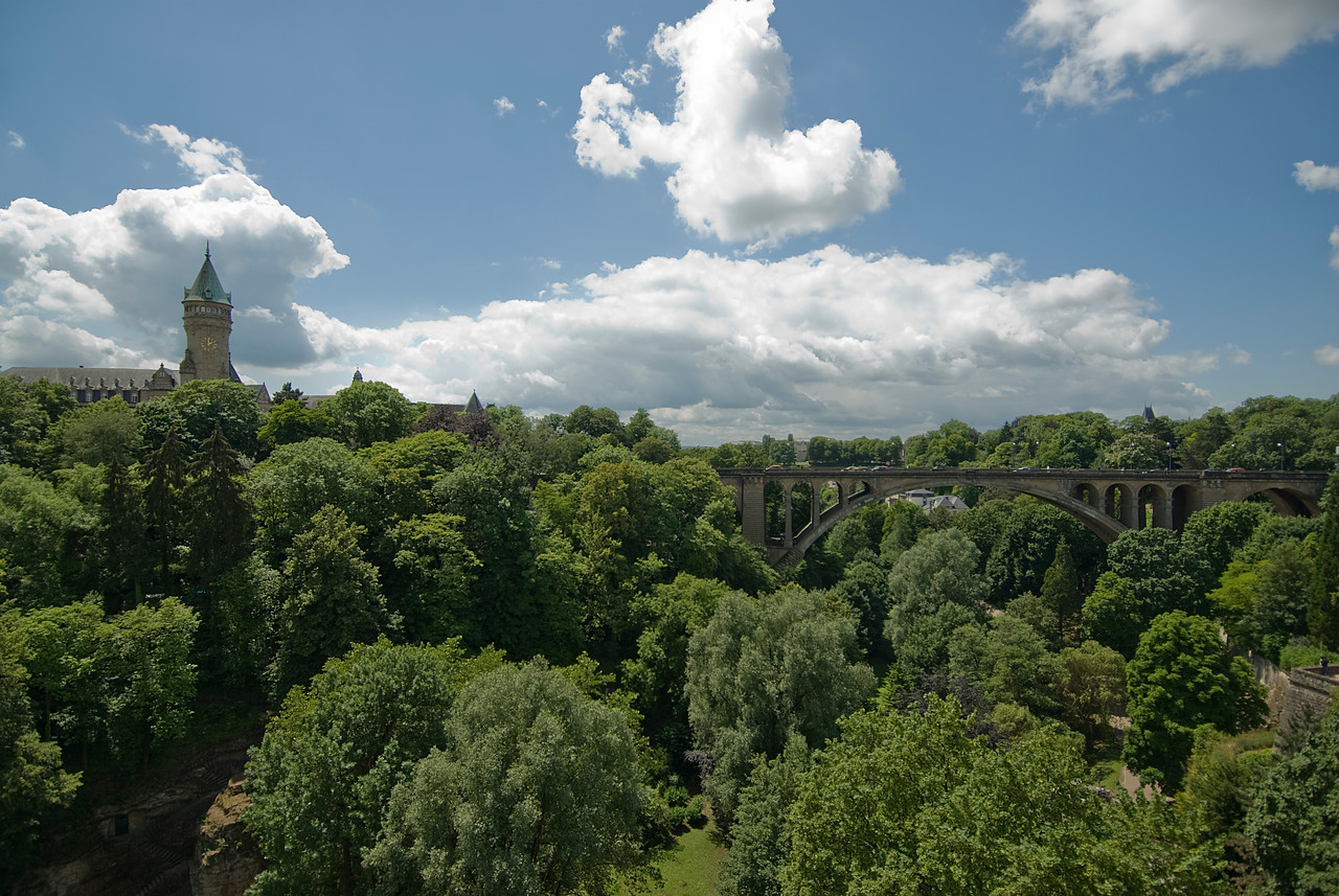 The Adolphe Bridge in Luxembourg city, Luxembourg