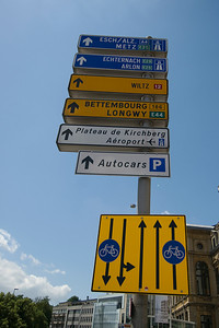 Street sign in Luxembourg city, Luxembourg