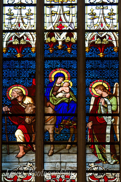 Stained glass window, Cathédrale de Notre-Dame, Luxembourg City