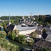 View of the Grund quarter from Chemin de la Corniche, Luxembourg City
