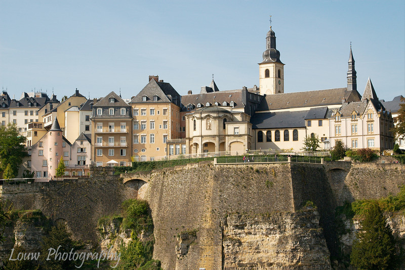 View of Luxembourg City Centre from the Grund quarter