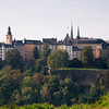 View of Luxembourg City Centre from the Kirchberg quarter