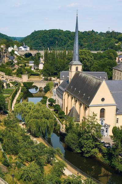 View from Chemin de la Corniche in Luxembourg City