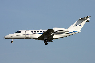 LX-GJM Cessna 525C Citation Jet 4 c/n 525C-0174 Brussels/EBBR/BRU 26-03-17