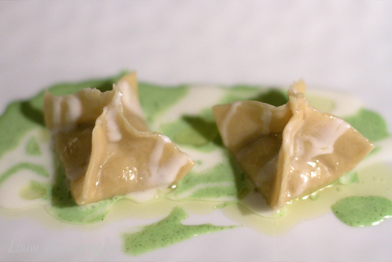 Tortellini with eggplant, zucchini cream and pecorino, Mosconi, Luxembourg City
