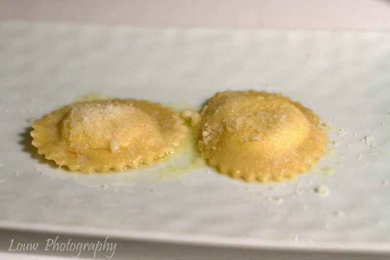 Ravioli with pecorino, romano and parmesan in melted butter, Mosconi, Luxembourg City