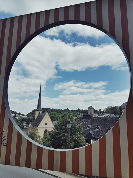 View from the Wenzel walk in Luxembourg city