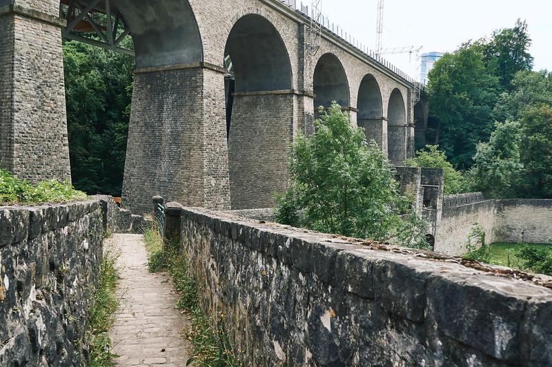 Wenzel walk in Luxembourg city