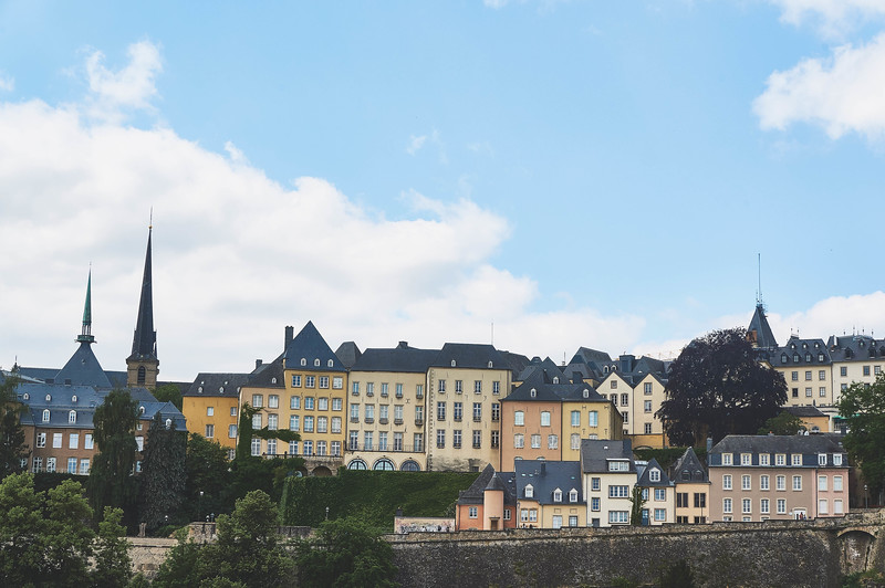 View of Luxembourg City during the Wenzel walk