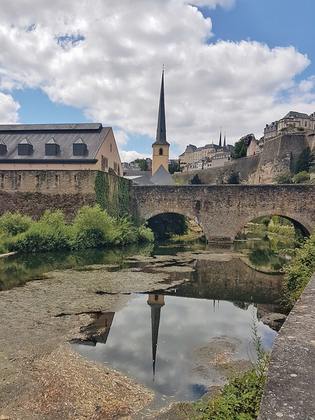 Bridge view during the Wenzel walk in Luxembourg city