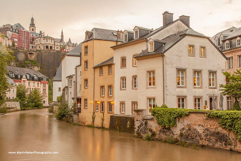 Alzette River, Luxembourg City, Luxembourg.