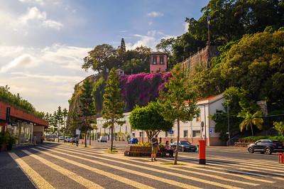 Av. SA Carneiro street and the Santa Catarina Park in Funchal, Madeira