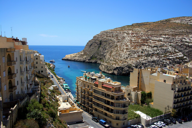 This is a view from the place I stayed at of Xlendi. The town is really small and this is most of it.