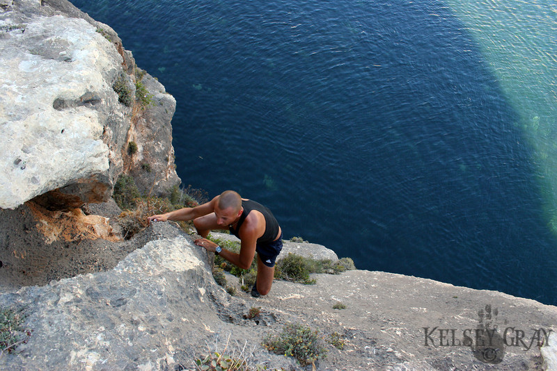 This is a guy I met in Xlendi (Paul) we did a bunch of climbing and when I get to Germany hopefully we are going to meet up and drive to Amsterdam!