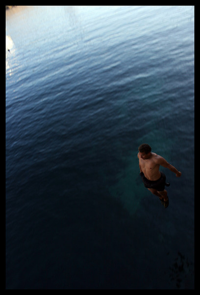 Here I am hovering above the water. Preparing for my impact