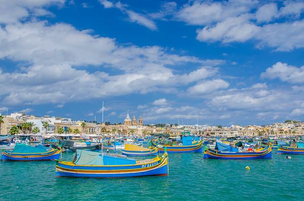 Colorful Marsaxlokk Harbor, Malta