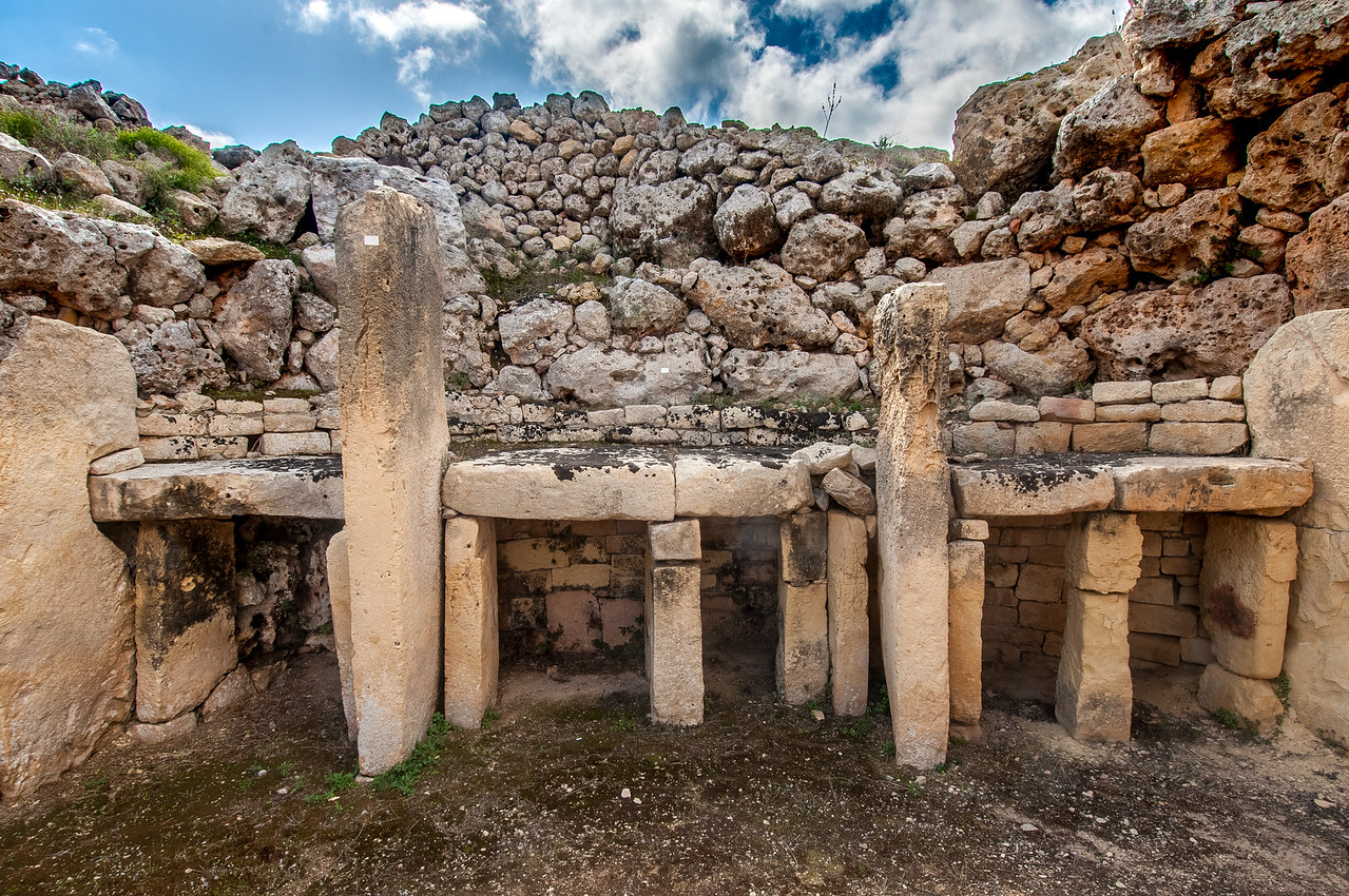 picture of a limestone structure within the UNESCO Site Megalithic Temples of Malta