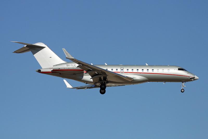 9H-VJC Bombardier Global Express XRS c/n 9448 Tucson IAP/KTUS/TUS 14-11-16