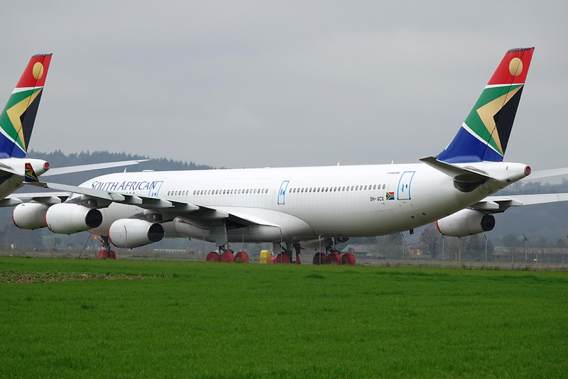 "9H-ACX Airbus A340-313E ""Leasing Company"" c/n 544 Tarbes-Lourdes/LFBT/LDE 27-02-21 ""SAA c/s"""