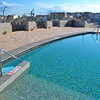 The rooftop pool that was closed for the season