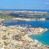The fishing village of Marsaxlokk from the air